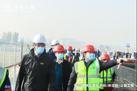 中铁三局安大线(新区段)公路工程项目6S精益管理观摩会顺利举行