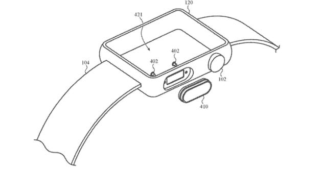 Apple Watch 新专利 Touch ID 屏下隐藏式镜头及闪灯