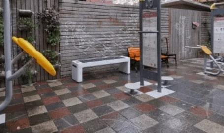 公园手机无线充电座椅 太阳能发电 + Wi