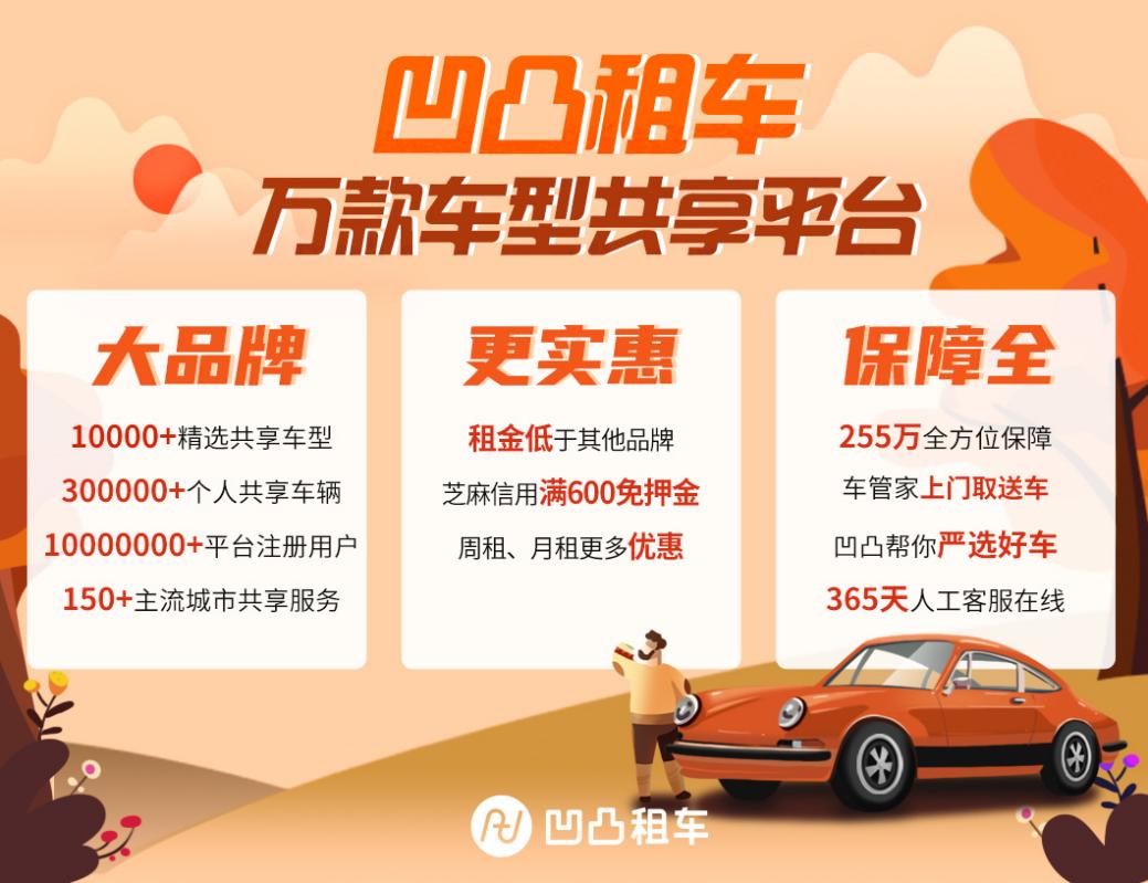 重庆企业租车app哪家便宜?成为凹凸车主让你赚零花钱