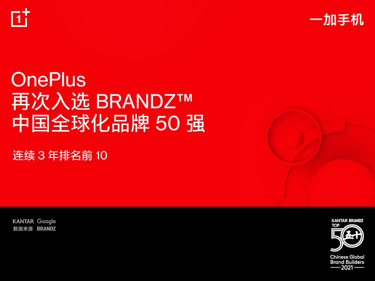 五年蝉联!一加手机再入选BrandZ中国全球化品牌榜,连续3年排名前10