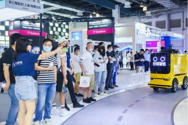 行深智能无人车闪耀2021世界人工智能大会,助力末端物流智能化转型升级