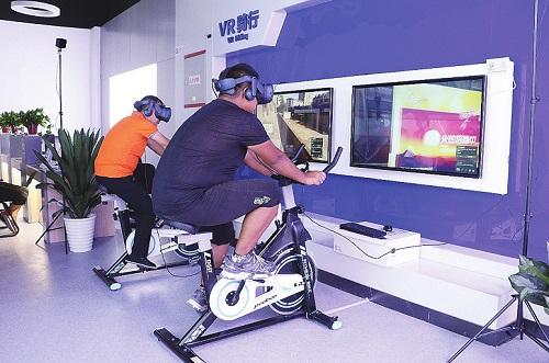 陕西移动精心打造了VR骑行