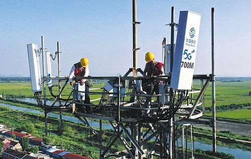 安徽移动铜陵分公司在普济圩二分厂成功开通5G 700M示范站