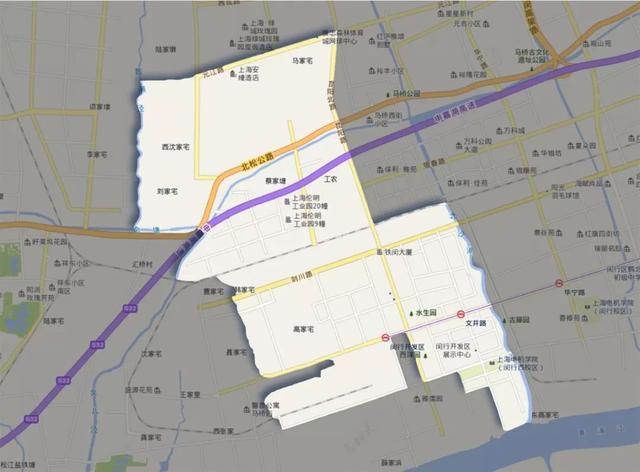 上海马桥人工智能创新试验区(闵行区马桥最新规划图)